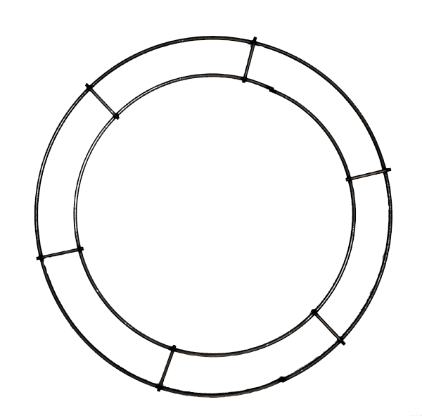 Double rail rings flat wreath rings goderie 39 s tree farm - Plaque ondulee polycarbonate transparent ...